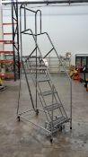 6-Step Rolling Work Platform Ladder