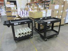 Uline Plastic Utility Carts-Black