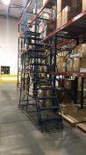 Rolling Steel Warehouse Ladder