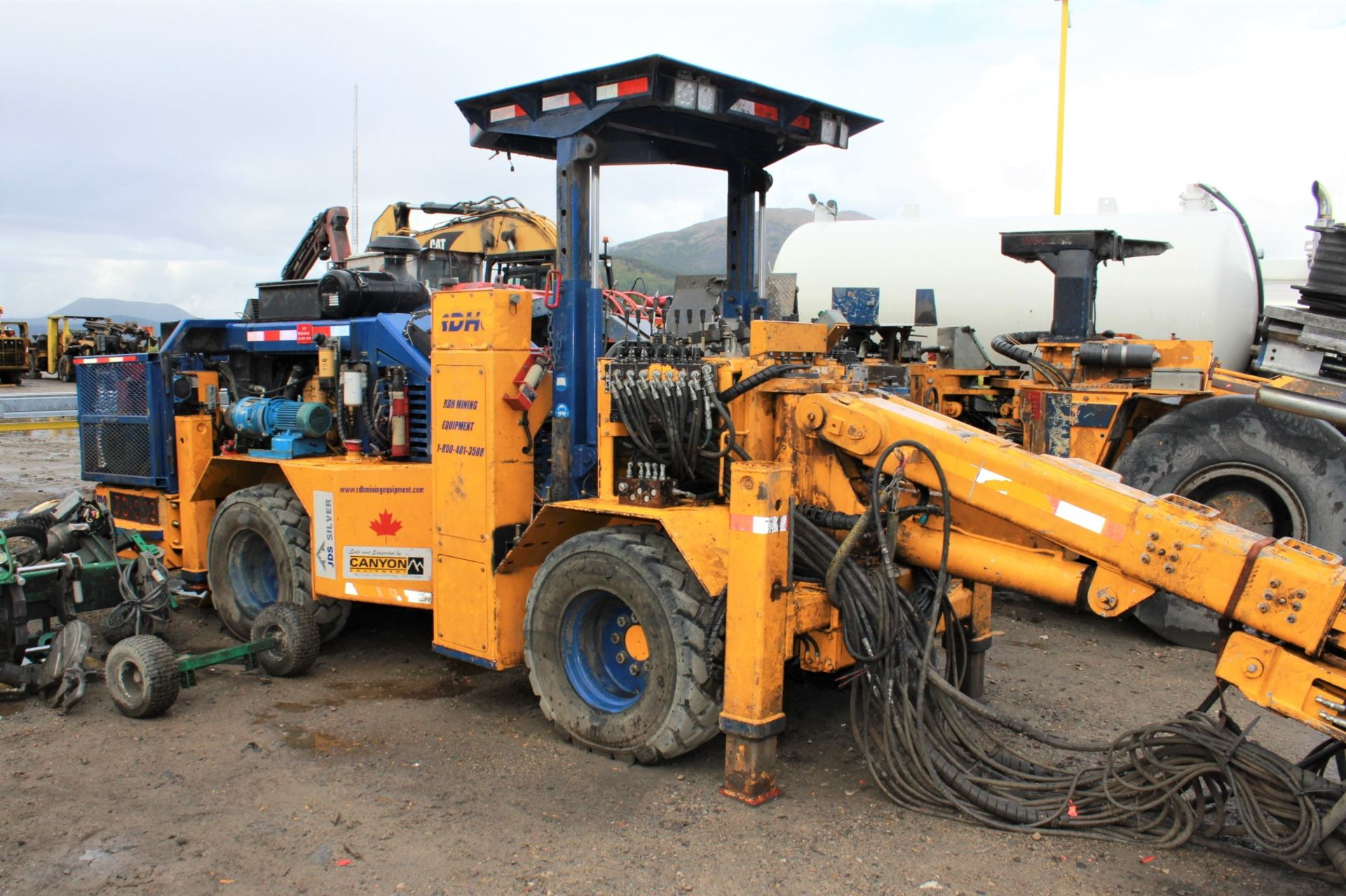 Lot 10 - 2008 RDH Drillmaster 100EH Jumbo Drill, Converted to Long Hoe, S/N 08-1046; Meter Shows 350 Hrs; (