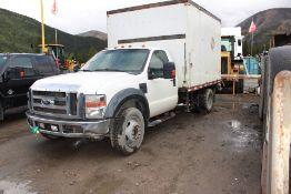 2009 Ford F550 XL Super Duty Box Truck, 6.8L V10, w/ Landa Kohler Hot Washer Pressure Cleaner; VIN