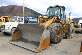 2010 Cat 966H Wheel Loader, EROPS, c/w Craig GP 4.5 9' Bucket, 26.5R25 Tires; S/N A6D02527; Meter