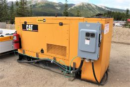2007 Cat D100-4 Diesel Generator, 100KW, Skid Mounted, 200 & 60 Amp Square D Switches; S/N F3A01259,