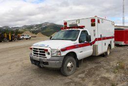 2005 Ford F-350 Ambulance, Powerstroke Diesel; VIN 1FDWF37P65EA96672; Meter Shows 147,793 KM; (