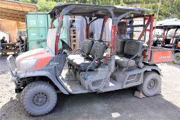 2017 Kubota RTV 1140-CPX Maintenance Utility Vehicle; S/N 17242; Meter Shows 3,300 Hrs; (Unit