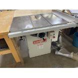 "CANTEK CANTA10-5 10"" TABLE SAW, 5HP, 230V, W/ FENCE"