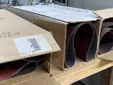 """(3) BOXES OF 36"""" WIDE SANDNG BELTS"""