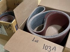 (2) BOXES OF NEW EDGE SANDING BELTS