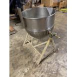 """Groen DN30 30 Gallon Stainless Steel Jacketed Kettle - Manual tilt - 24"""" diameter x 18"""" deep - 18"""""""