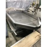 """Stainless Steel Cooling Cart - 60"""" x 50"""" x 8"""" deep perforated bed with ¼"""" diameter screen holes -"""