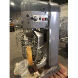Hobart model V1401 140-qt Mixer - (2) Hercules manual hydraulic bowl lifts - (2) Stainless Steel