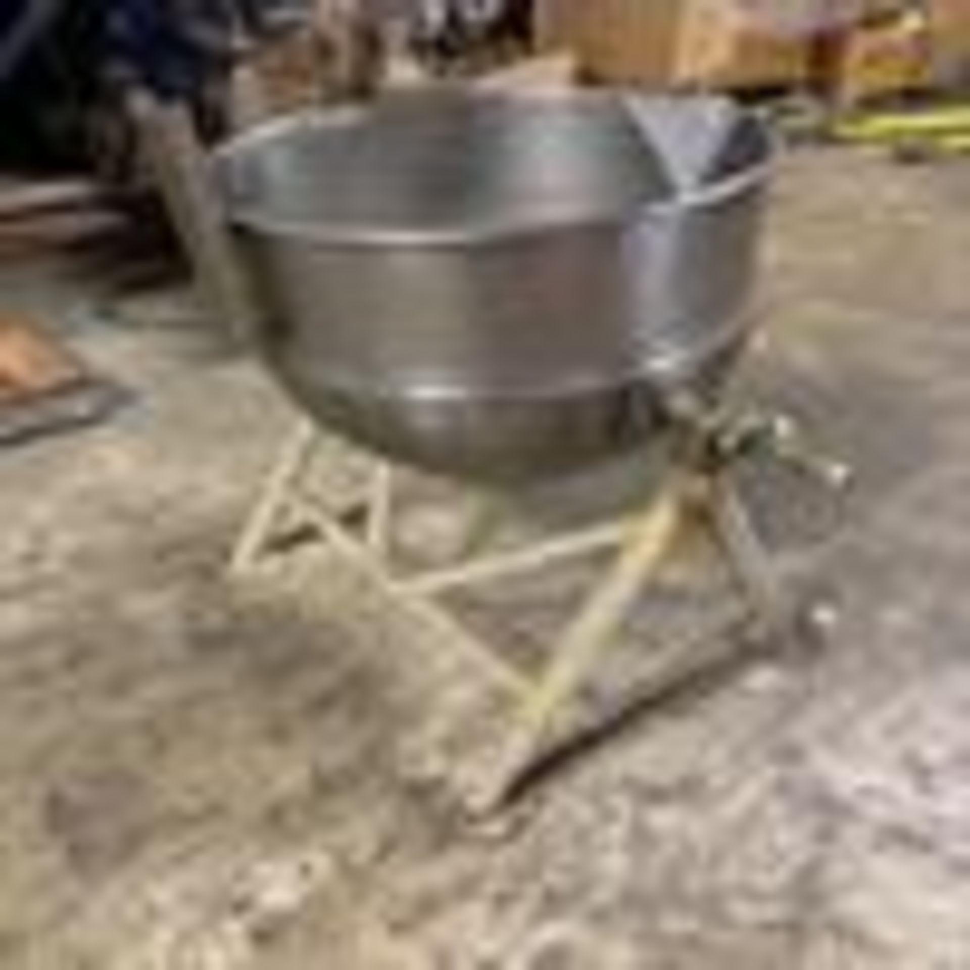 """Lot 1 - Groen DN30 30 Gallon Stainless Steel Jacketed Kettle - Manual tilt - 24"""" diameter x 18"""" deep - 18"""""""