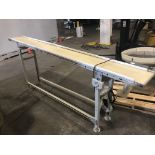 """IQC Industries 12"""" wide x 10-ft long Belt Conveyor - DC variable speed, 110 volts Loading is free."""