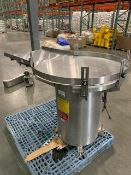 "Kaps-all model FS-A-36 36"" diameter Stainless Steel Accumulating Table with DC variable speed"