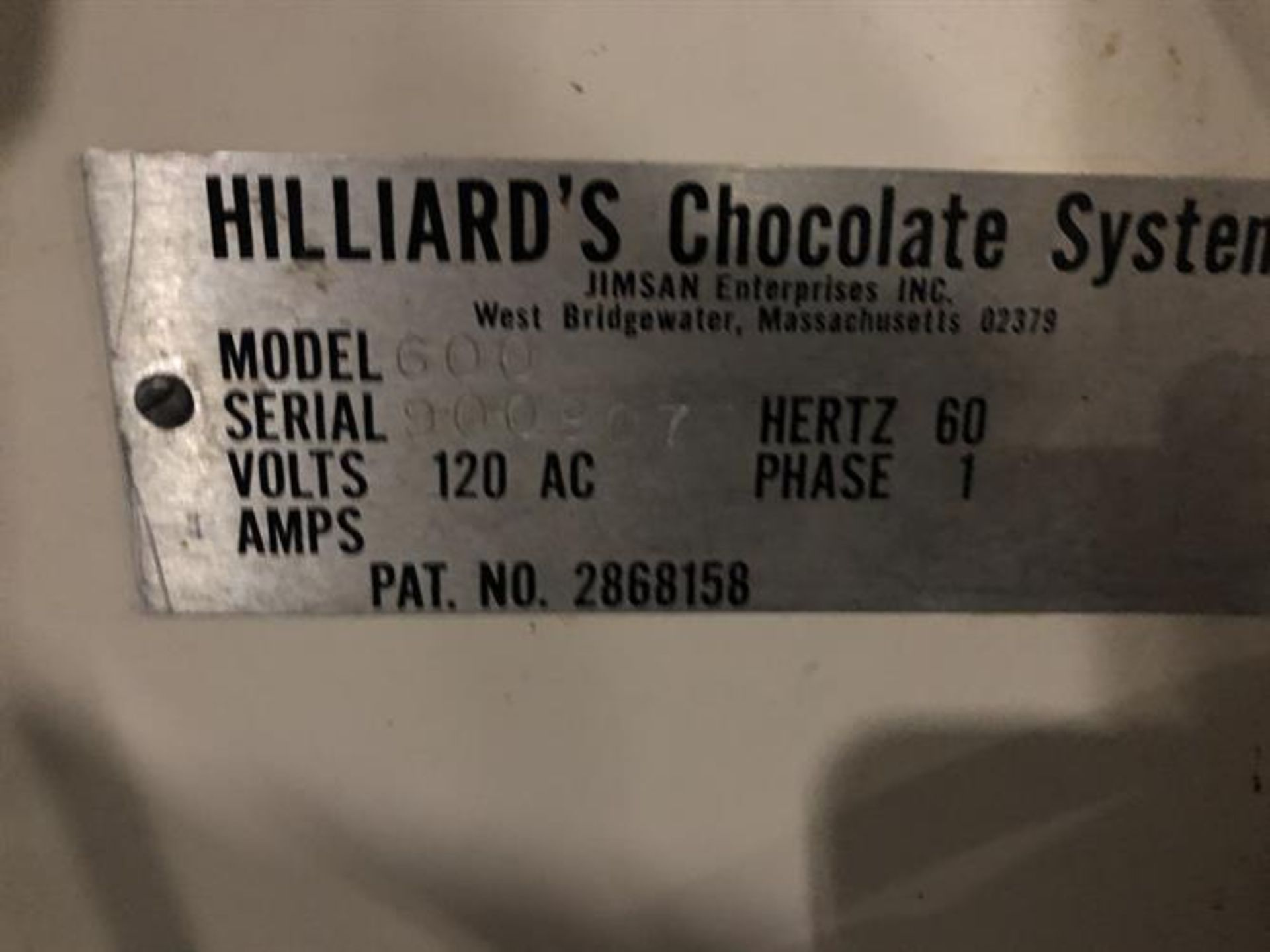Hilliard 600lb/day Tempering Melter with Flood Mold Attachment - Electric heater and thermostat - - Image 4 of 6