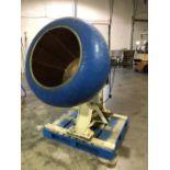 "Burkhard 40"" Copper Coating Pan with Ribs - 32"" deep x 24"" diameter opening - 7 metal ribs - 7"