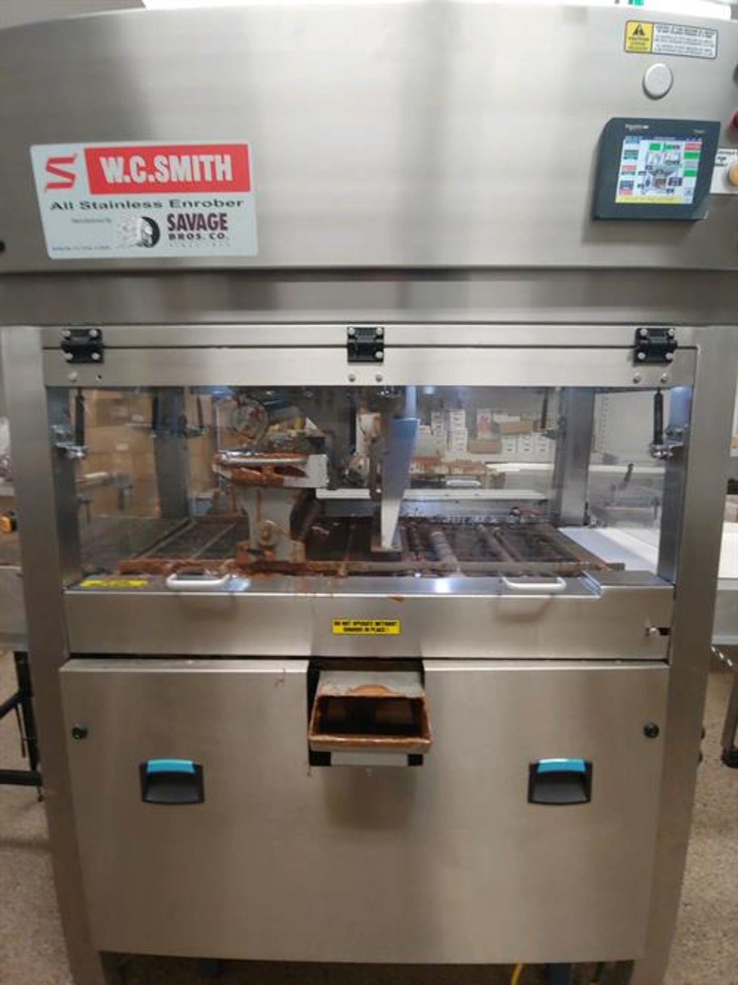 """Savage 16"""" Stainless Steel Enrober - Model 5216 - Removable stainless steel tank"""
