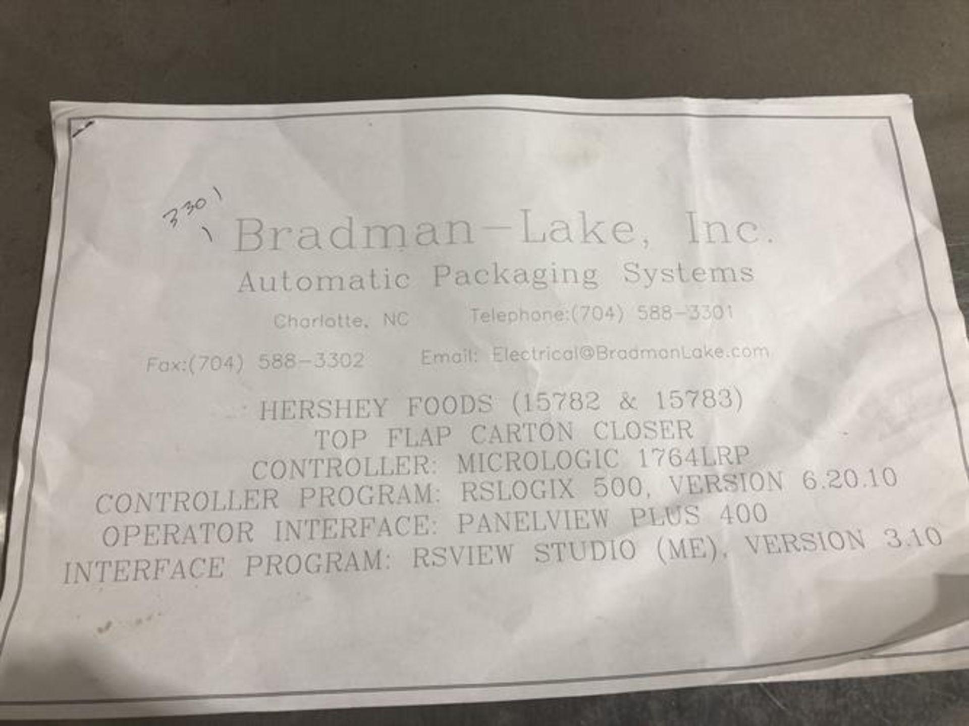 Bradman Lake inline Top Flap Sealer carton closer - Nordson Hot Melt - Allen Bradley Panelview - Image 16 of 19