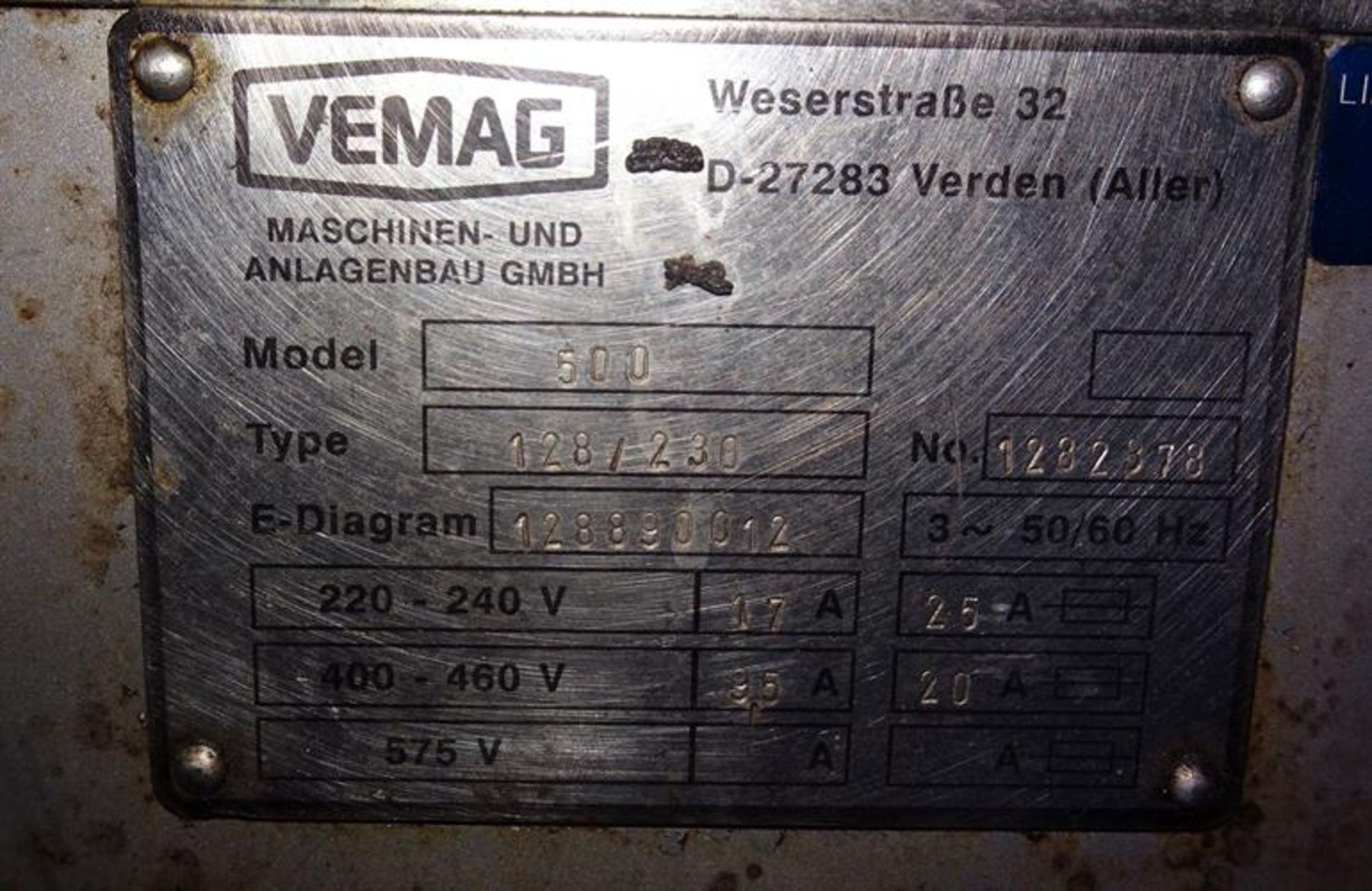 Vemag Robot 500 With PC 878 Portion Controls - Image 7 of 9