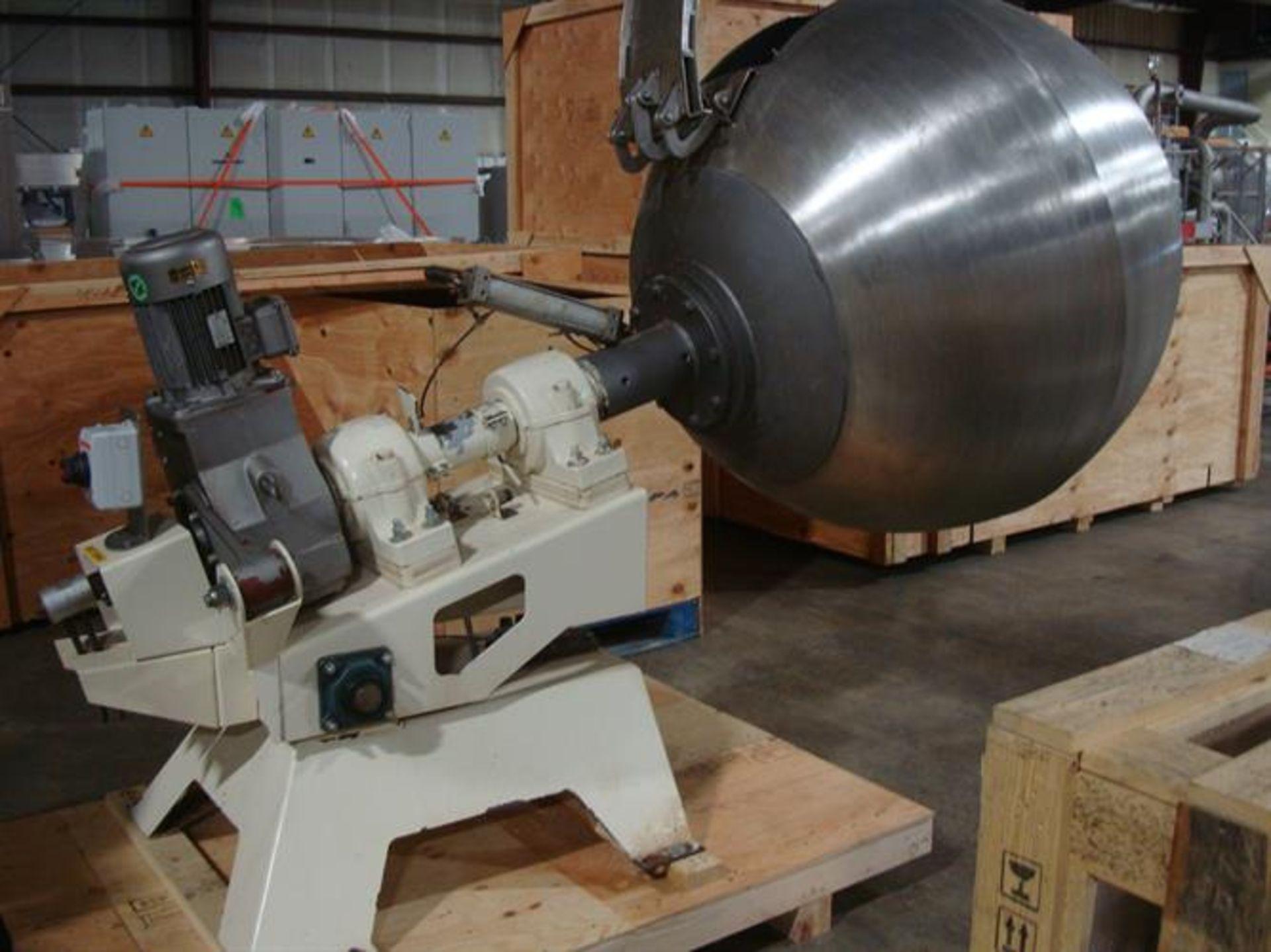 """Coating Pan 52"""" Diameter Stainless Steel Polishing Pan - 52"""" diameter - Plastic ribs screwed in from"""