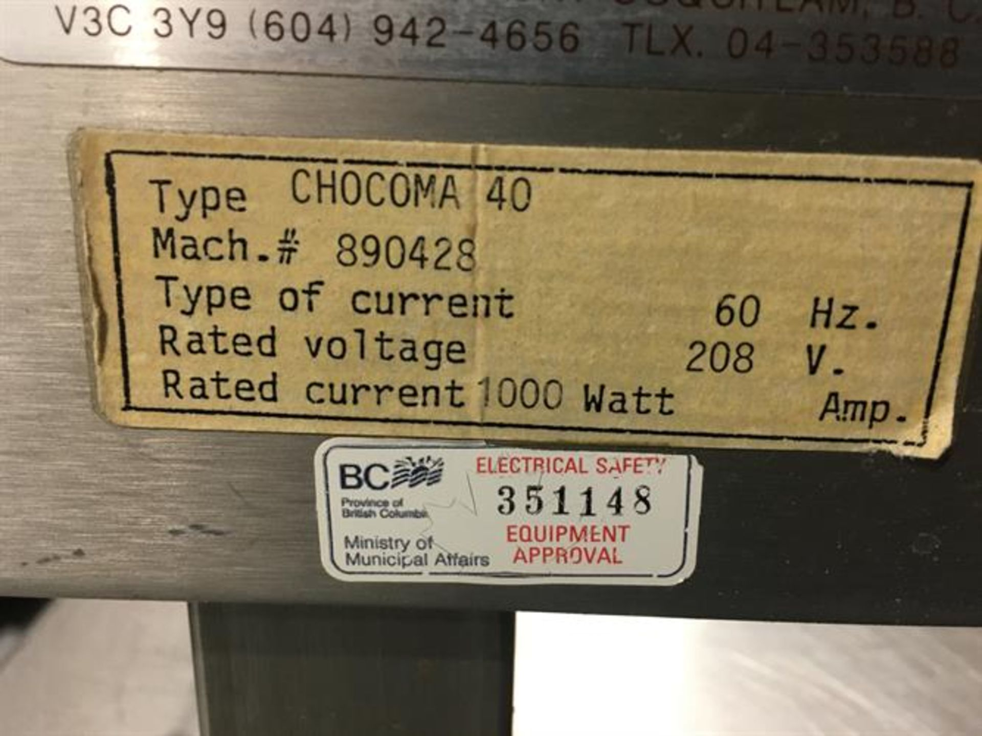 Chocoma 40-kg Tempering Melter - Wheel type - Electrically heated with digital thermostat - Tank - Image 4 of 5
