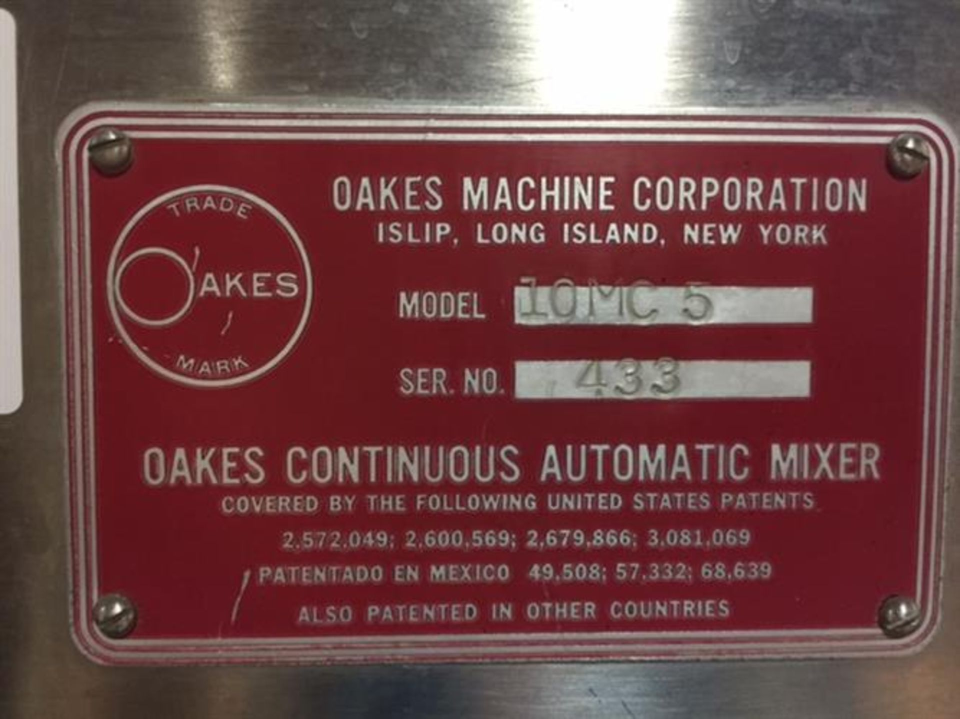 Oakes Model 10MC5 Continuous Mixer - Waukesha model 10 Stainless Steel Positive Displacement Pump - Image 3 of 10