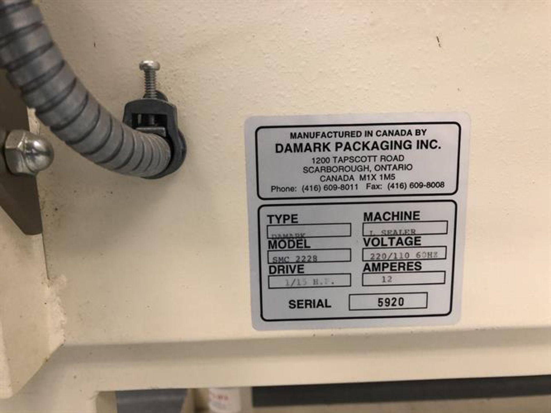 "Damark model SMC 2228 L-Bar Sealer - 22"" x 28"" sealing area - Timers and controls - Take away belt - Image 4 of 5"