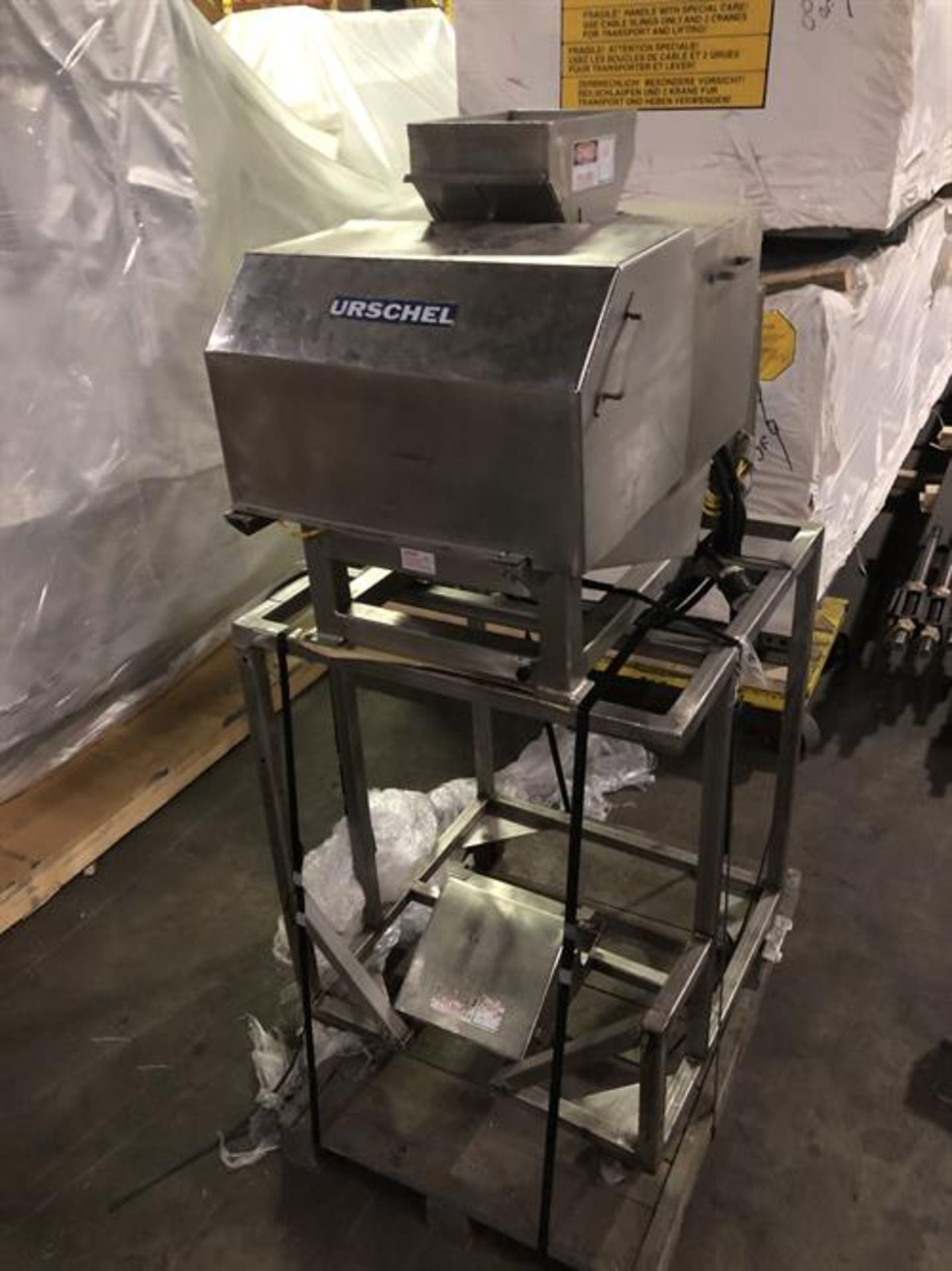 Urschel model N Stainless Steel Granulator - Vibrator pan feeder with variable speed rheostat -
