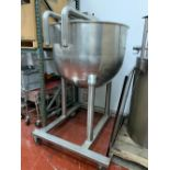 "Groen N-150 SP 150 Gallon Stainless Steel Kettle - 42"" diameter x 34"" deep - Not jacketed - Bridge"