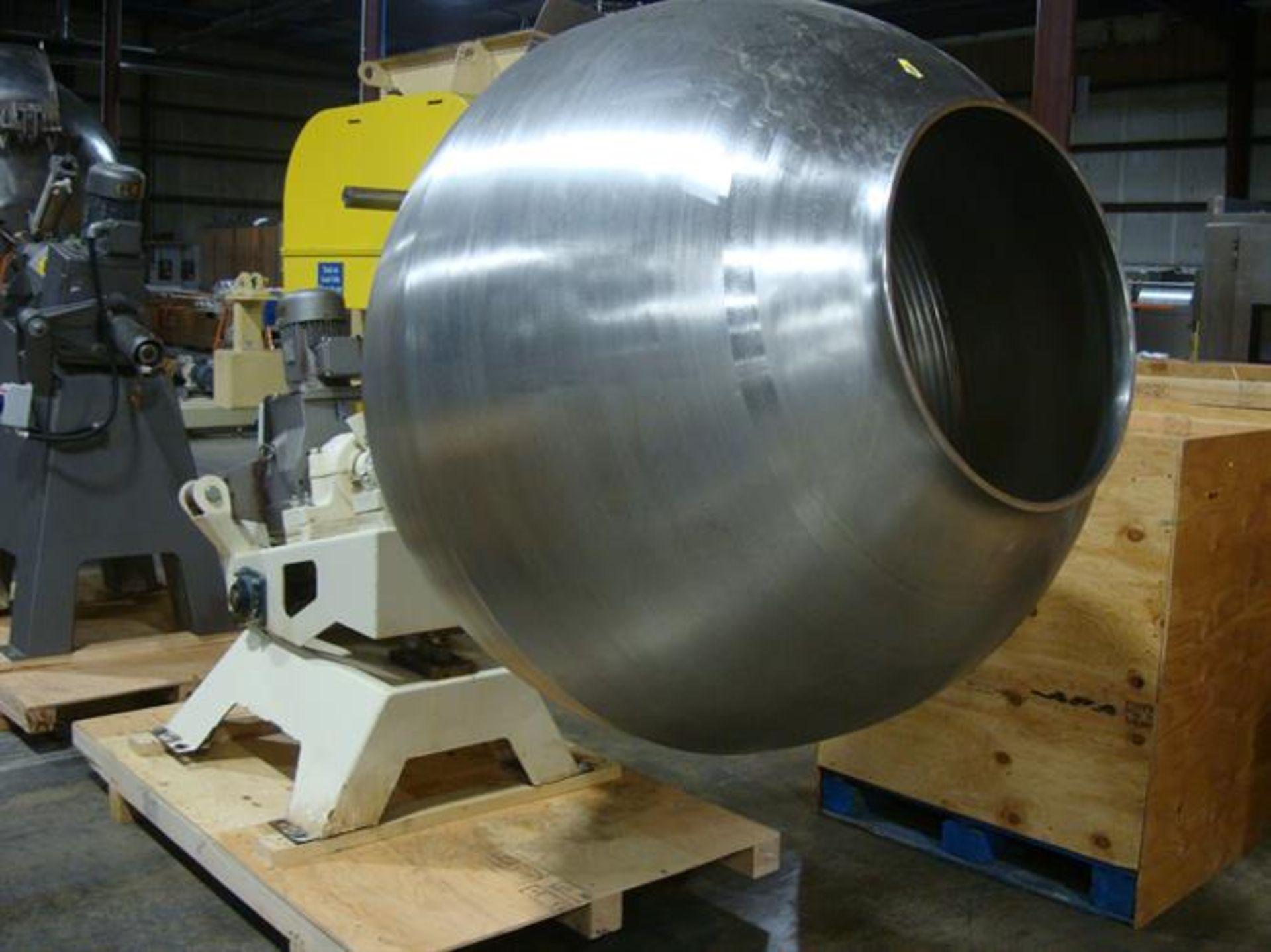 """Coating Pan 52"""" Diameter Stainless Steel Polishing Pan - 52"""" diameter - Plastic ribs screwed in from - Image 4 of 4"""