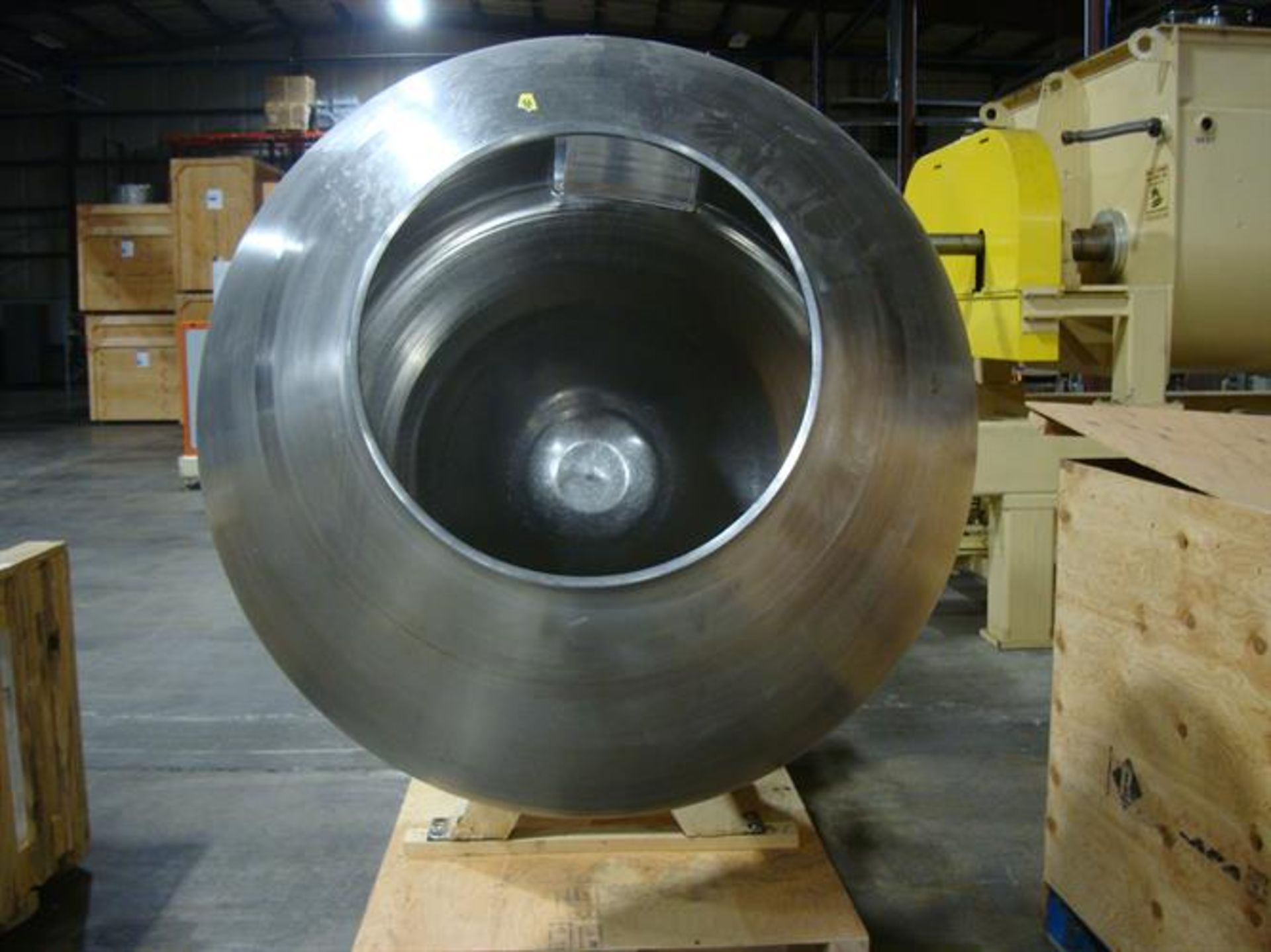 """Coating Pan 52"""" Diameter Stainless Steel Grossing Pan - 52"""" diameter - 23.75"""" diameter opening x - Image 3 of 4"""