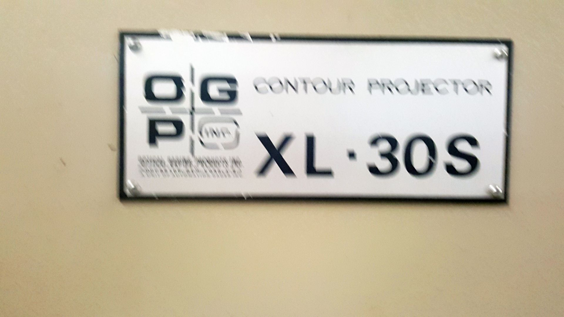"OGP 30"" Optical Comparator Projector, Model IXL-827, XL30S, S/N 8270292, under power - Image 6 of 8"