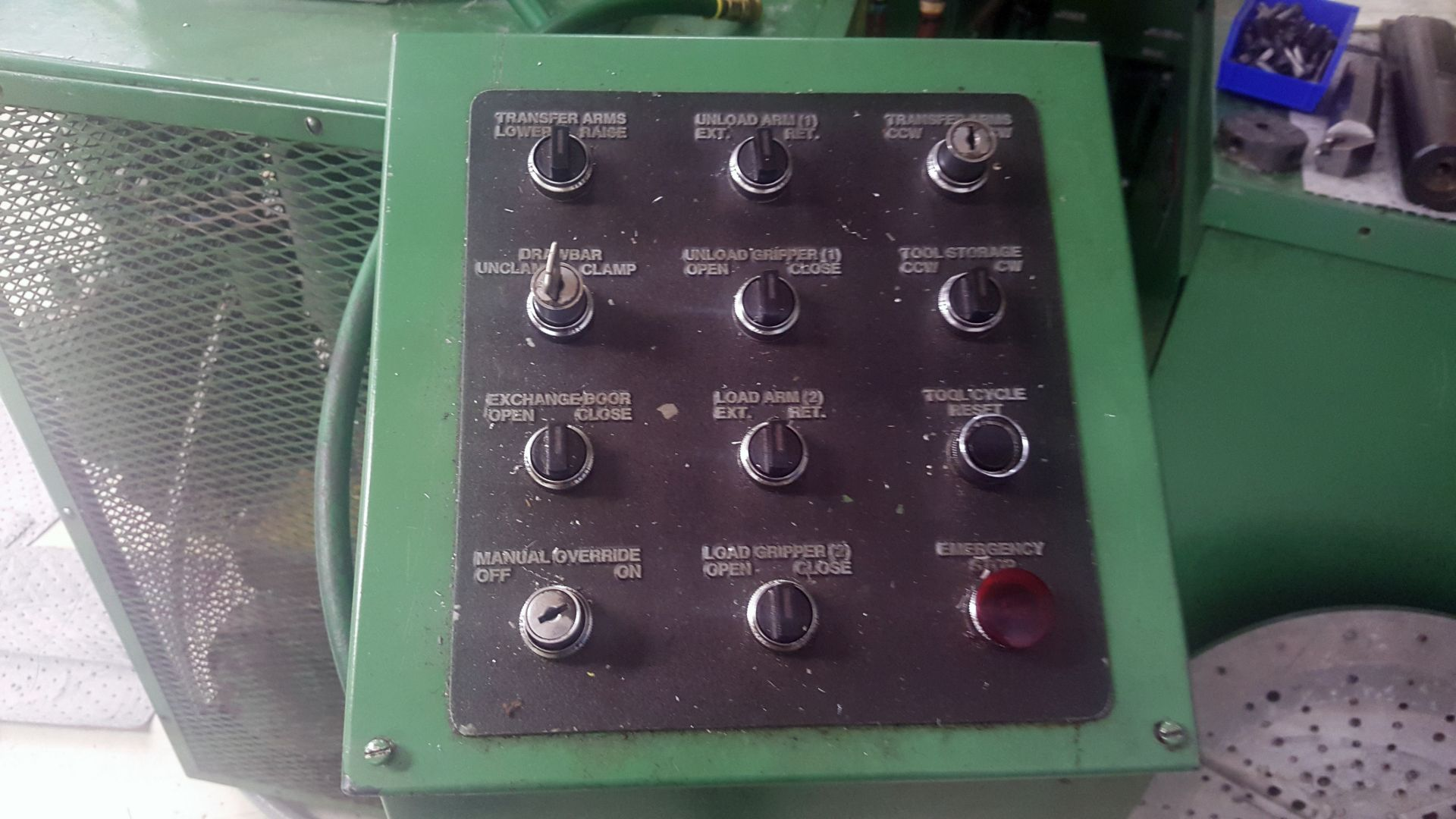 """Lot 4 - Gray 42"""" table CNC Vertical Turing and boring lathe, Allen Bradley 8200 control, under power"""