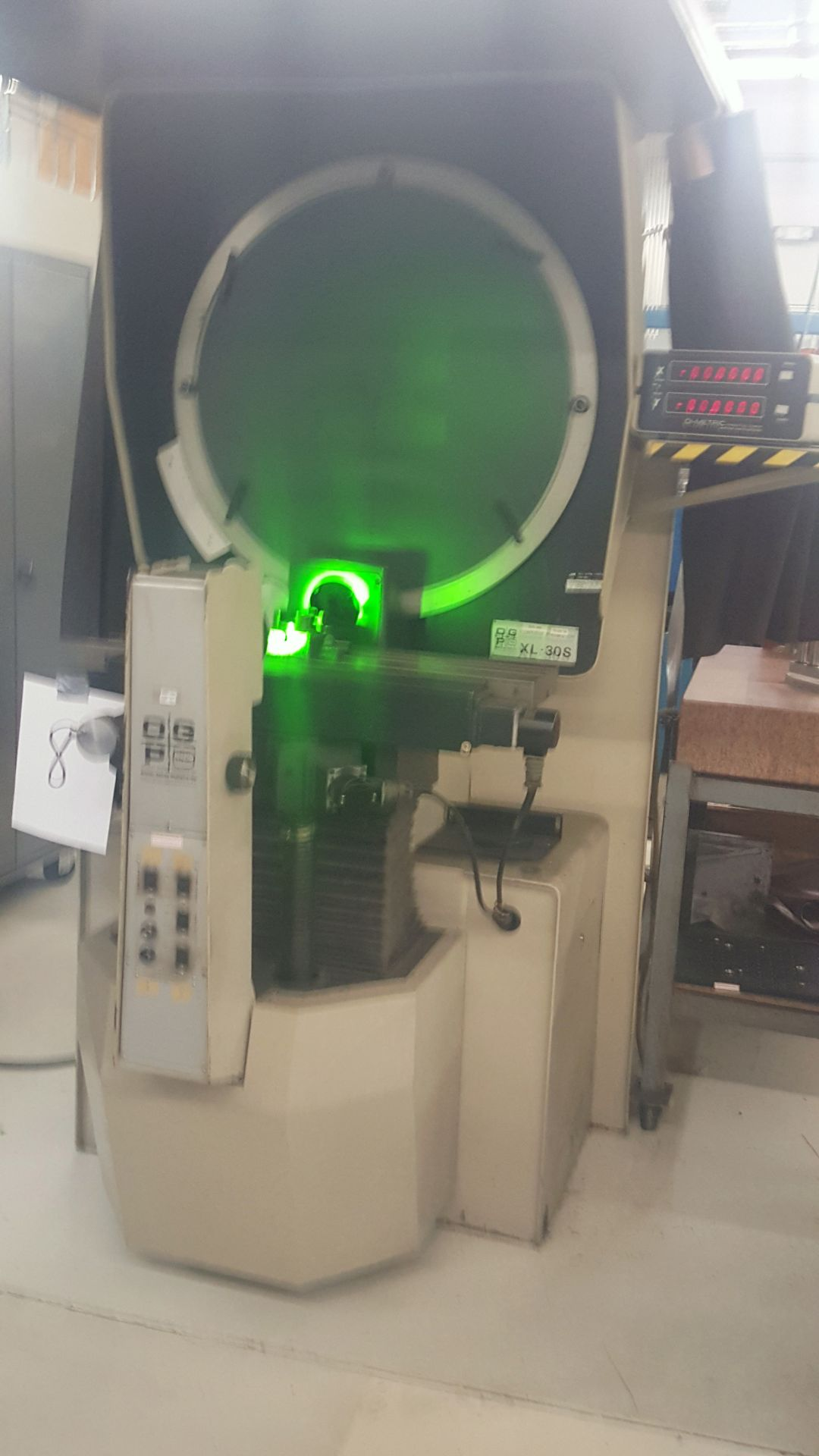 "OGP 30"" Optical Comparator Projector, Model IXL-827, XL30S, S/N 8270292, under power - Image 2 of 8"