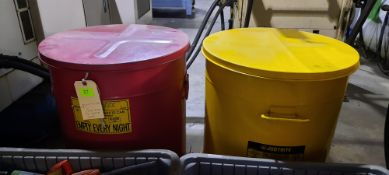 JUST RITE OIL WASTE CANS