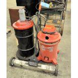 Lot - (1) SEARS CRAFTSMAN Wet-Dry Shop Vac, (1) ARC Grease Pump and (1) Walk Behind Floor Magnet
