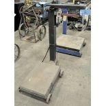 "HOWE 1,000 Pound Capacity Portable Platform Beam Scale, S/n N/A, 17"" x 26"" Platform"