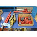 Lot-(1) SUNEX 10-Ton Capacity Hydraulic Manual Port-A-Jack Kit and (1) Enerpac Hydraulic Porta-Power