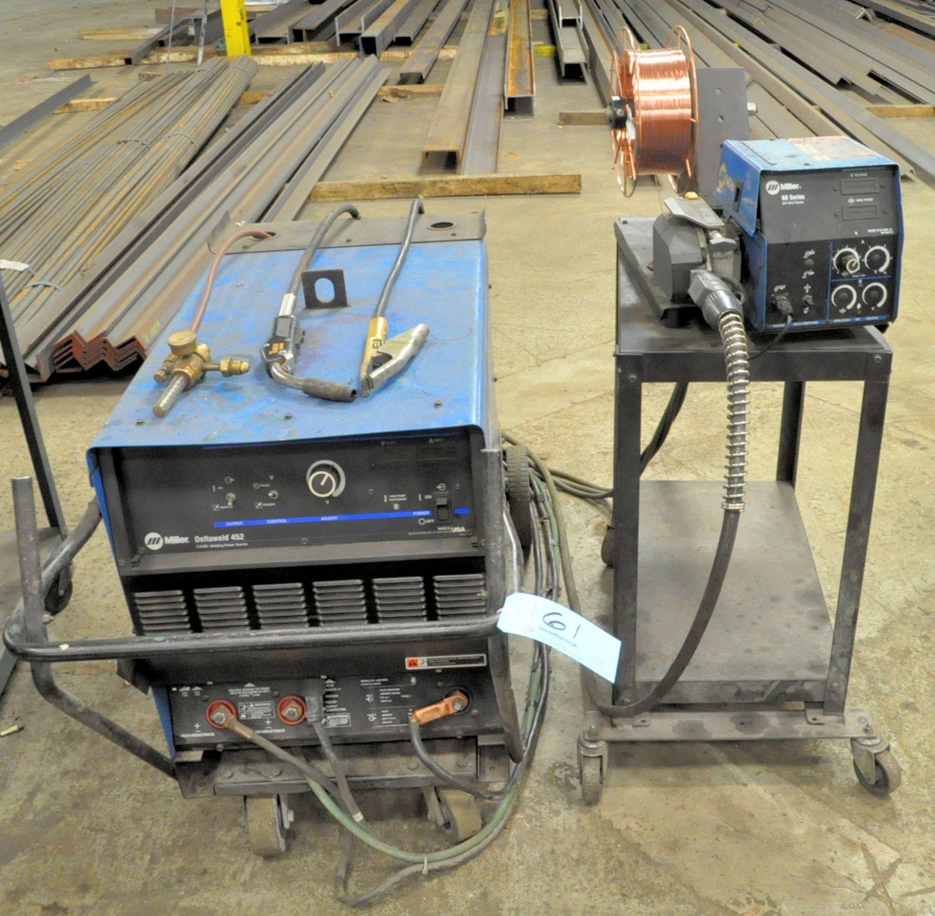Miller Deltaweld 452, 450-Amp Capacity CV DC Arc Welding Power Source with Miller 60 Wire Feeder
