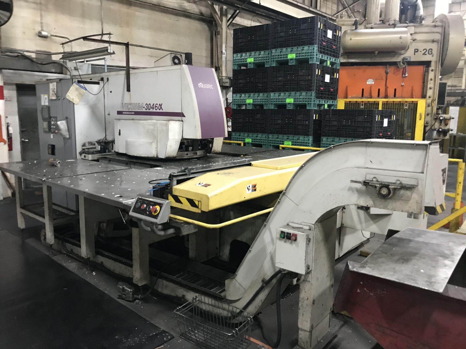 "Lot 1 - Wiedemann Model 3046 UX CNC Turret Punch, 33 Ton, 49"" x 78.7"" Sheet Size, 53"" Throat, (4) Auto-Index"