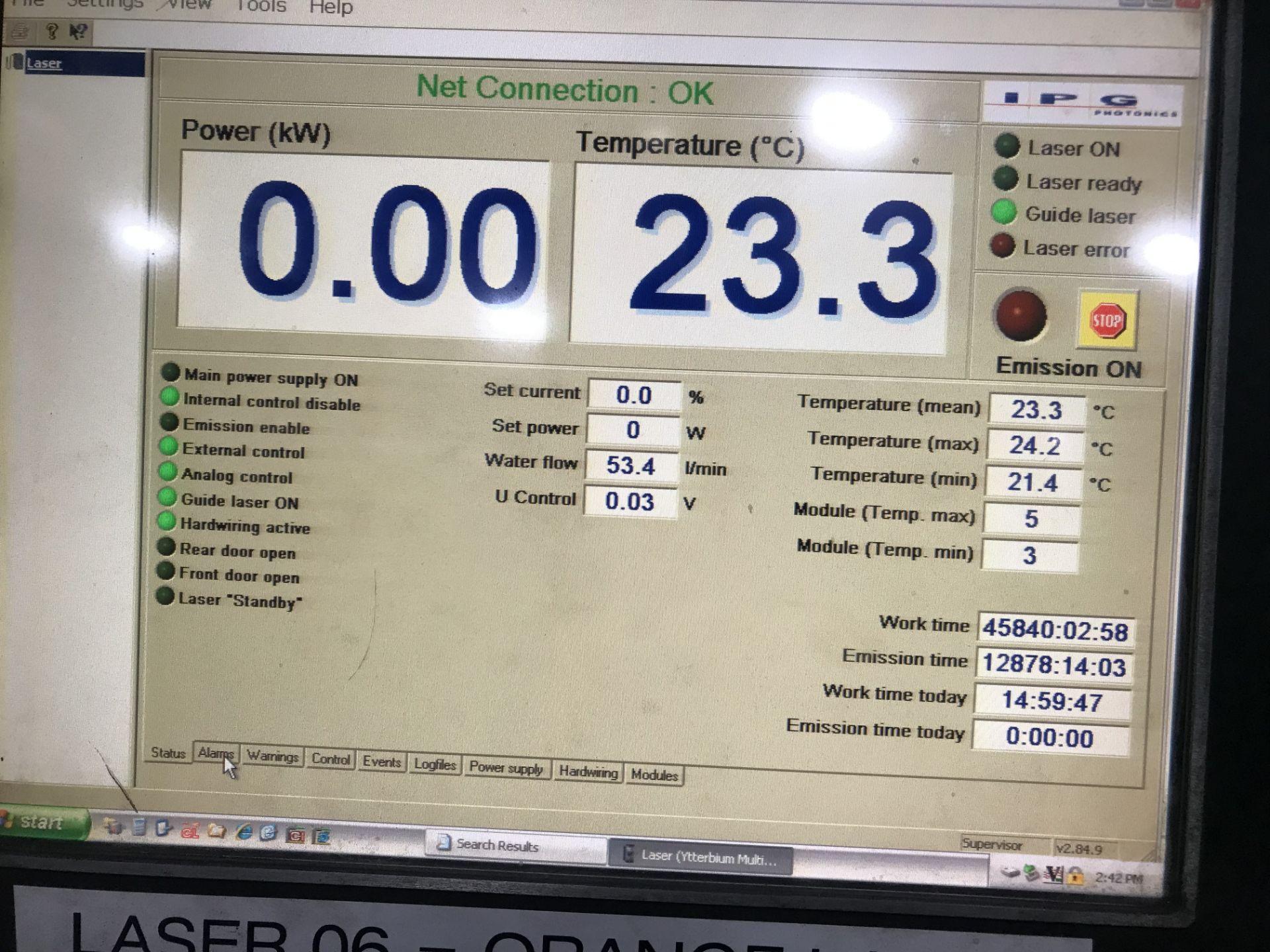 Lot 3 - Cincinnati CL940 Fiber Laser, 4,000 Watt, 5' x 10' Dual Pallets, Chiller, Dust Collector, Low Hours