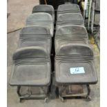 Lot-(8) 4-Wheeled Short Shop Seats