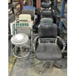 Lot-Asst'd Office Chairs and Stools