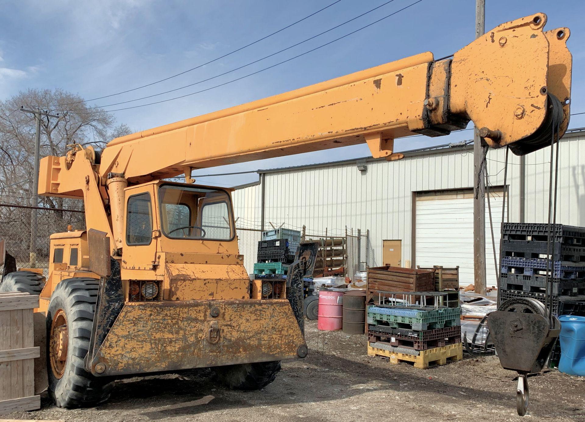 Lot 653 - Grove Model RT48, 14-Ton Capacity Fully Hydraulic Self-Propelled Gasoline Powered Boom Crane