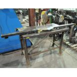 """Makita LS1030, 10"""" Mitre Saw, S/n 52770, with Steel Bench"""