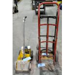 Lot-(2) Various 2-Wheel Hand Carts and (1) Line Striper