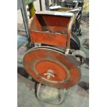 """Lot-(2) Banding Carts, (1) with 1/2"""" Poly Banding and Tools, (1) Cart Only"""