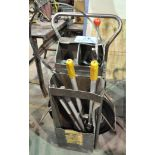 """Steel Banding Cart with Partial 1 1/4"""" Banding, Clips and Tools"""