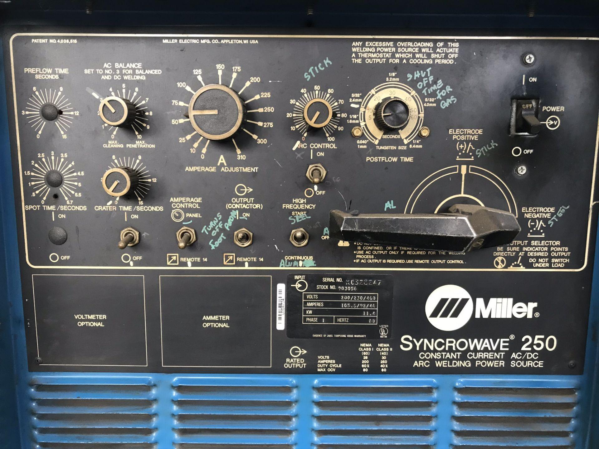 Miller Syncrowave 250 Welder w/ Coolmate 4 Chiller - Image 3 of 3