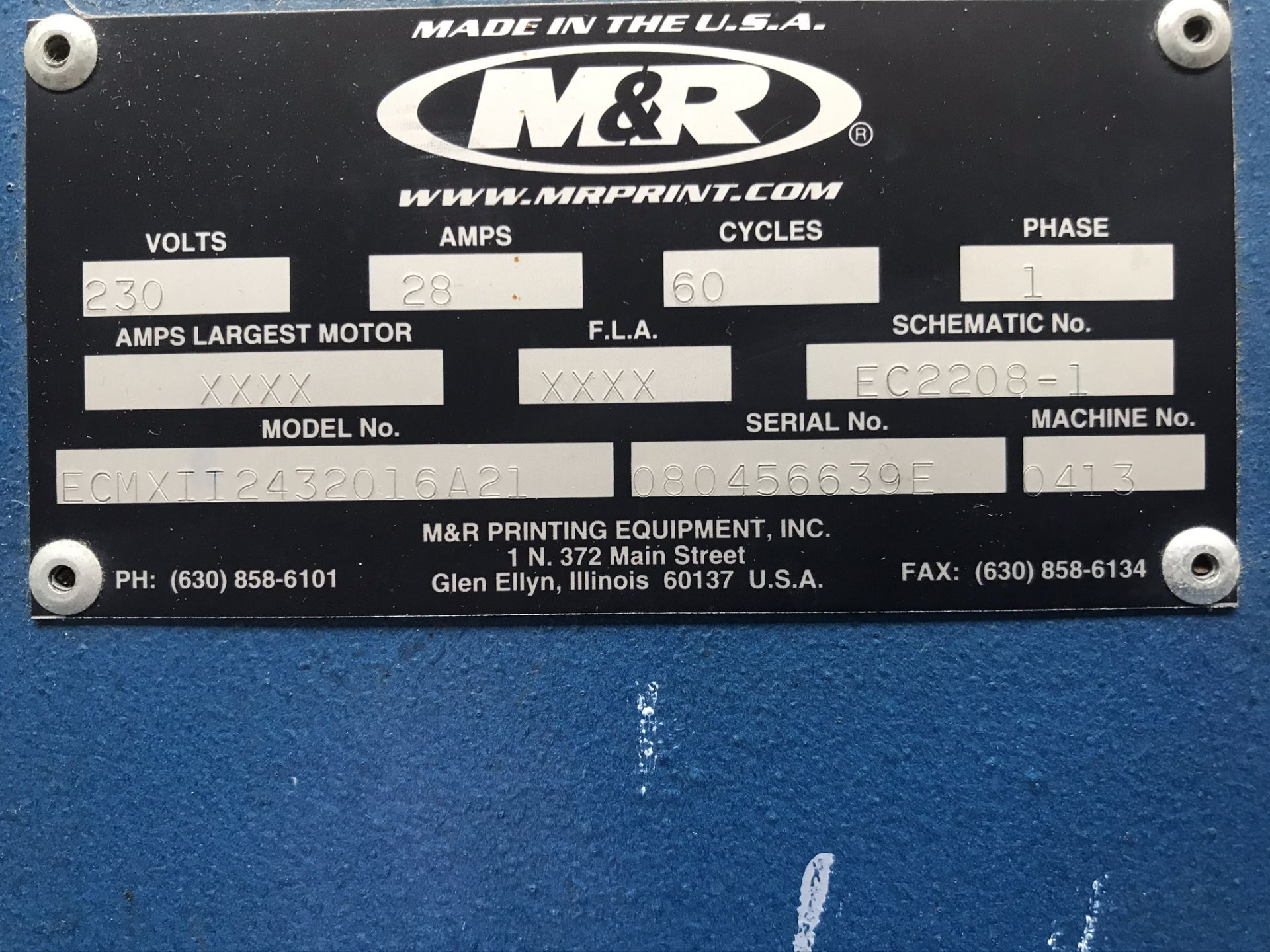M&R Economax II ECMXII2432016A21 Drying Oven - Image 6 of 6